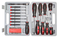 Box set of different tools. Royalty Free Stock Image