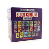 Box set of Horrible Histories books box set on a white backgroun Stock Image