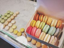 Box Set of Macarons Stock Images