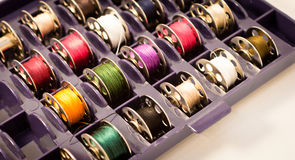 Spools for sewing machine Royalty Free Stock Photography