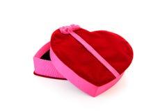 Box in shape of heart stock photo