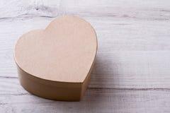 Box shaped as heart. Stock Photos