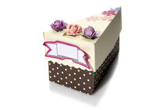 A Box-Shaped Piece Of Cake Stock Images