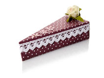 A Box-Shaped Piece Of Cake Royalty Free Stock Photo