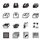 Box , Shipping & Logistics  icons set Royalty Free Stock Photo