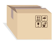 Box with shipping marks Royalty Free Stock Photo