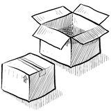 Box, shipping, or packaging illustration Stock Photo