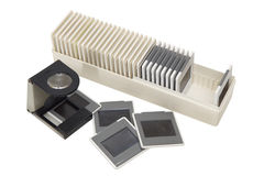 Box of slide film Royalty Free Stock Image