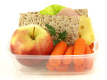 Box with snacks, isolated Royalty Free Stock Photography