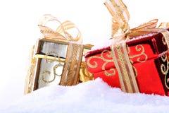 Box in snow Stock Photo