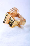 Box in snow Royalty Free Stock Images