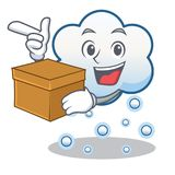 With box snow cloud character cartoon Royalty Free Stock Photos