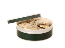 Box of snuff Stock Photography