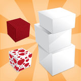 Box stack Stock Image