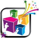 Box star logo Royalty Free Stock Images