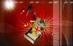 Box and stars flowing Royalty Free Stock Images