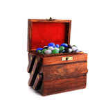 Box with stones Royalty Free Stock Photos