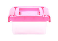 Box storage plastic container isolated Stock Photography