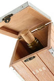 Box for storing wine. Design Stock Images