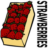Box Strawberries Stock Images
