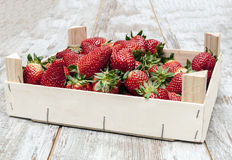Box strawberries Royalty Free Stock Photo