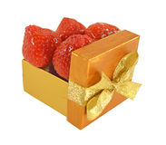 The box with strawberry_2 Royalty Free Stock Photo