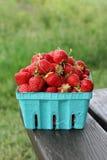 Box of strawberry Stock Photo