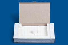 Box of Sugar Cubes Stock Photos