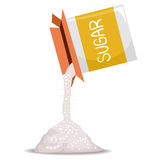 Box of Sugar Pouring Royalty Free Stock Photography