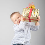 A box with a surprise Royalty Free Stock Photo
