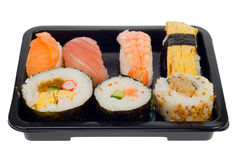 Box of sushi Royalty Free Stock Photos