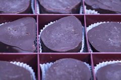 Box of sweet chocolate candies Royalty Free Stock Image