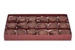 Box of sweet chocolate candies Royalty Free Stock Photo