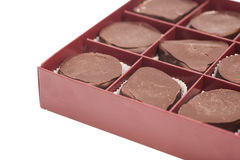 Box of sweet chocolate candies Stock Photo
