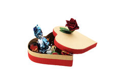 Box of sweets. Box with sweets a good gift by a holiday stock photography