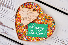 Box with sweets, Easter card. Stock Photography