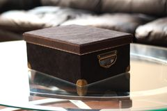 Box on a table Royalty Free Stock Photography