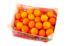 Box of tangerines Royalty Free Stock Images