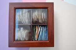 Box tea bags Stock Photo