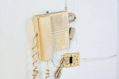 Box of telephone emergency call security Royalty Free Stock Photography