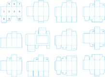 Box template collection 01 eps Royalty Free Stock Photography