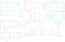 Box template collection 09 eps vector illustration