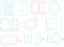 Box template collection 08 eps royalty free illustration