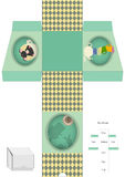 Box template. Gift package. Alice in Wonderland. Royalty Free Stock Images