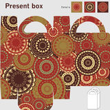 Box template. Ornaments pattern Royalty Free Stock Photo