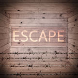 Box textures background with escape wording Royalty Free Stock Images