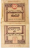 Pack of cigarettes Labor of war. Spanish civil war. royalty free stock photo