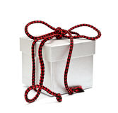 The box tied by a red cord Stock Image