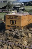 Box of TNT in Historic Military Encampment Stock Photos