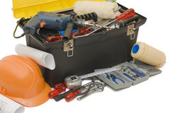 Box with the tools Stock Image